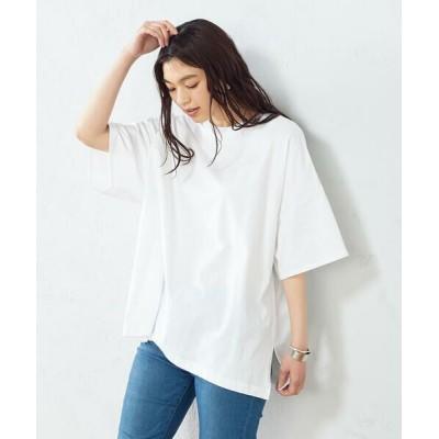 COMME CA ISM/コムサイズム ビックTシャツ オーバーサイズ ホワイト F