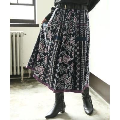 osharewalker / 『ヴィンテージ花柄ジャガードニットスカート』 WOMEN スカート > スカート