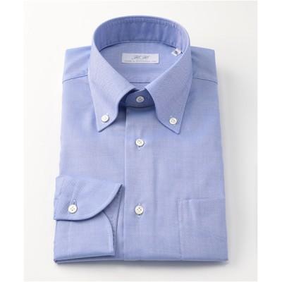 [シャツ]ダブルエイチ ドレスシャツ HH7A-B-014 ブルー ロイヤルオックス 42-86