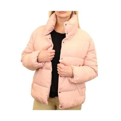 マウンテン アンド アイルス ジャケット&ブルゾン アウター レディース Women's Wide Quilted Puffer Jacket Open Pink