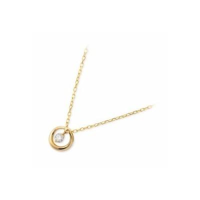 ゴールド ネックレス ダイヤモンド 彼女 プレゼント ジェイセレクション 誕生日 送料無料 レディース