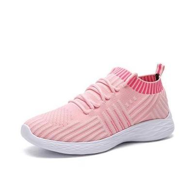 DAYATA Women's Lightweight Running Shoes Breathable Walking Shoes Woman Fashion Sneakers (US 5.5 = EU 36, Pink)【並行輸入品】