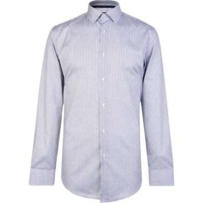 ヒューゴ ボス BOSS メンズ シャツ スリム トップス Slim Fit Jesse Fine Stripe Shirt Navy