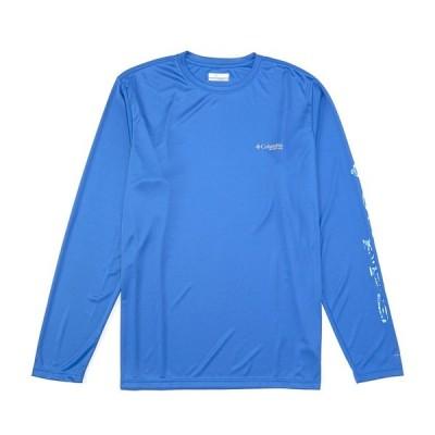 コロンビア メンズ シャツ トップス PFG Terminal Tackle Long-Sleeve Tee Vivid Blue/Vivid Blue Inside Out Camo