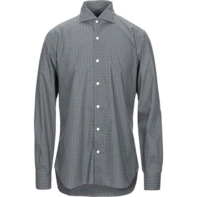 バルバ BARBA Napoli メンズ シャツ トップス checked shirt Grey
