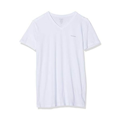 Diesel Men's Jake 3-Pack Essentials V-Neck T-Shirt, White/Black/Grey, Medium