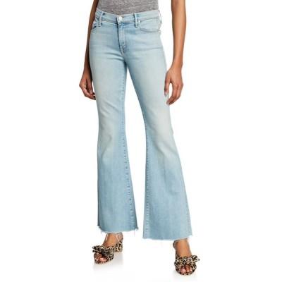 マザー レディース デニムパンツ ボトムス The Weekender Fray Flare-Leg Jeans