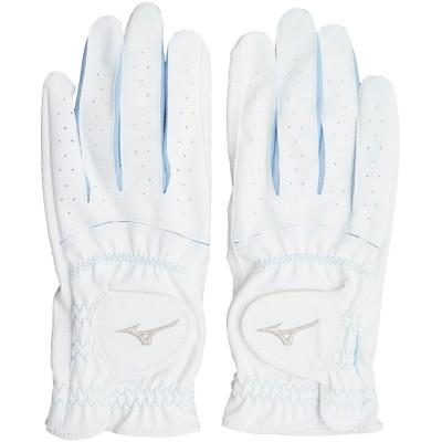 ミズノ MIZUNO efil手袋 両手用 45GH93112 19cm 両手用 ホワイト×サックス レディス
