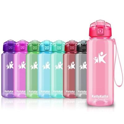 KollyKolla ボトル 水筒 プラスチック ウォーターボトル ドリンク軽量 ボトル  ぷらすちっく直飲み おしゃれ 子供 プラ スポーツボトル