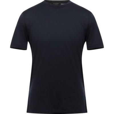 エルメネジルド ゼニア ERMENEGILDO ZEGNA メンズ Tシャツ トップス T-Shirt Dark blue