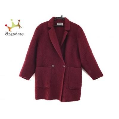 アニオナ AGNONA コート サイズ40 M レディース 美品 - ボルドー 長袖/冬 新着 20201007