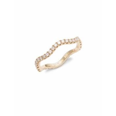 クウィアト レディース ジュエリー Wave Diamond & 18K Rose Gold Wedding Ring
