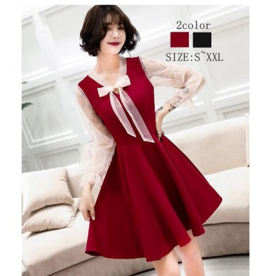 ミモレ丈ドレス カラードレス パーティードレス ウエディングドレス 20代 30代 40代 大きいサイズ おしゃれ お呼ばれ aラインワンピース 上品 結婚式 成人式