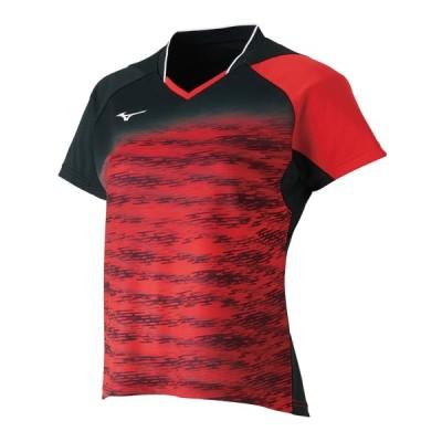 ミズノ テニス ユニホーム ゲームシャツ レディース ゲームシャツ チャイニーズレッド 62 MZ-62JA8708-62