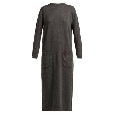 レイ Raey レディース ワンピース ミドル丈 ワンピース・ドレス Pocket-front cashmere midi dress Grey