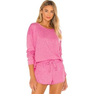 オンジー onzie レディース スウェット・トレーナー トップス x REVOLVE High Low Sweatshirt Pink