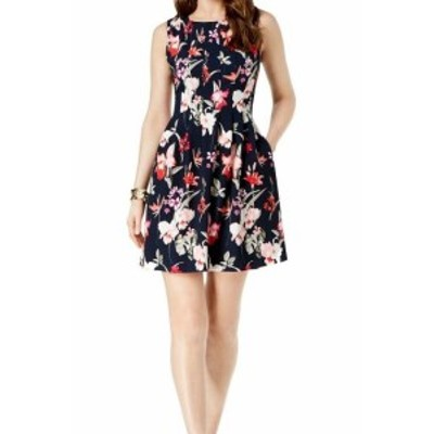 Jessica Howard ジェシカハワード ファッション ドレス Jessica Howard Blue Women Size 12P Petite Floral Print A-Line Dress