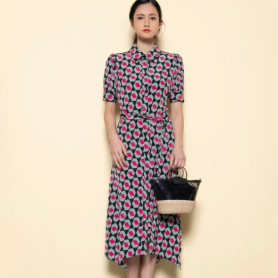 【Diane von Furstenberg】アシンメトリーヘムドレス
