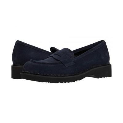 La Canadienne ラカナディアン レディース 女性用 シューズ 靴 ローファー ボートシューズ Hepburn - Navy Suede