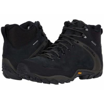 メレル メンズ ブーツ&レインブーツ シューズ Chameleon 8 Leather Mid Waterproof Black