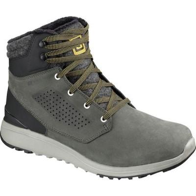 サロモン ブーツ&レインブーツ メンズ シューズ Utility Winter CS WP Boot - Men's Beluga/Black/Green Sulphur