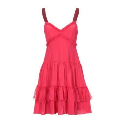 CINQ A SEPT シルクドレス ファッション  レディースファッション  ドレス、ブライダル  パーティドレス フューシャ