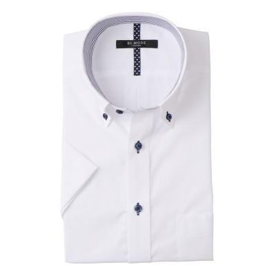 首回りひんやり形態安定半袖ワイシャツ(ボタンダウン)(標準シルエット) (ワイシャツ)Shirts,