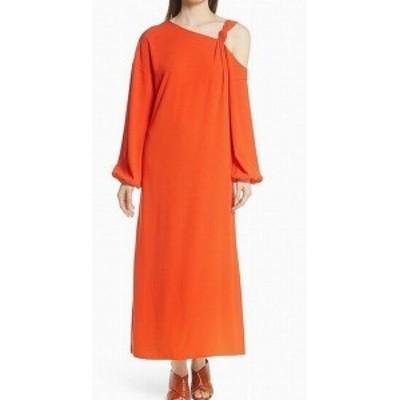 Elizabeth and James エリザベスアンドジェームス ファッション ドレス Elizabeth and James NEW Orange Off-Shoulder Womens Size 6 Shi