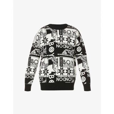 ボーイロンドン BOY LONDON メンズ ニット・セーター トップス Branded wool-blend jumper BLACK