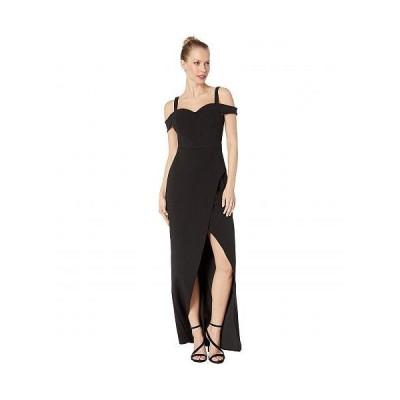 BCBGMAXAZRIA ビーシービージーマックスアズリア レディース 女性用 ファッション ドレス Cold-Shoulder Gown Dress - Black