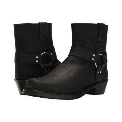Old West Boots Short Harness Boot メンズ ブーツ Black Distressed