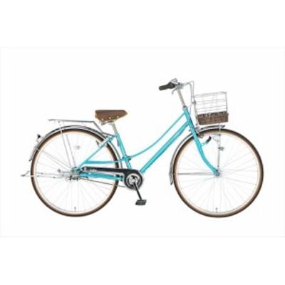 ママチャリ イーストボーイ 自転車 EASTBOY 27インチ 内装3段変速ギア デラックス シティサイクル 女子高生 ブルー 青
