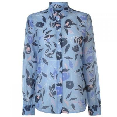ガント Gant レディース ブラウス・シャツ トップス Cotton Silk Blouse CAPRI BLUE