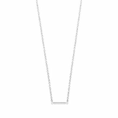 Boma Jewelry スターリングシルバー ミニバーネックレス 18インチ