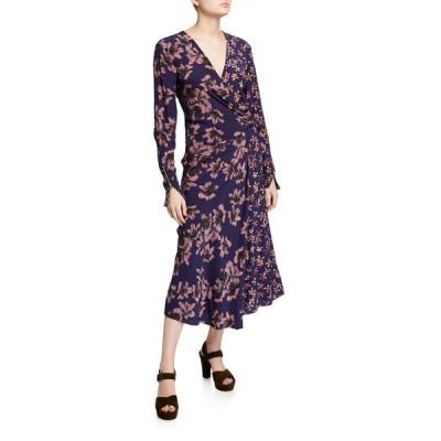 ラグアンドボーン レディース ワンピース トップス Odette Floral-Print Long-Sleeve Dress