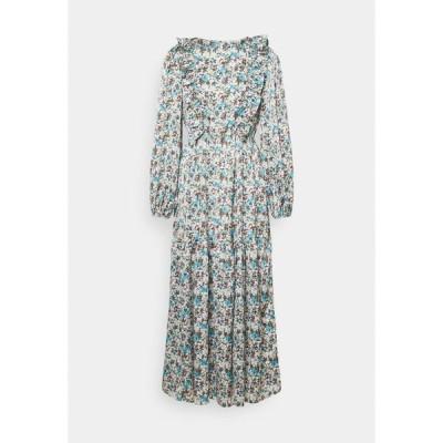 グラマラス ワンピース レディース トップス RUFFLE SHOULDER MIDAXI DRESS WITH PUFF LONG SLEEVES  - Day dress - confetti