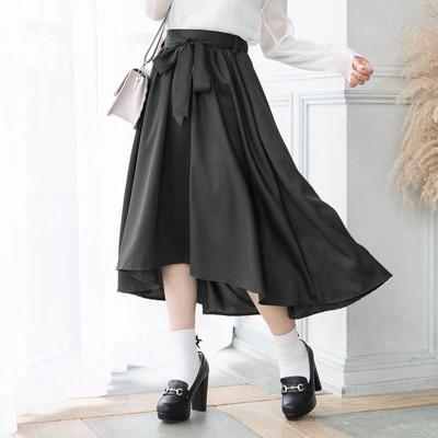 ユメテンボウ 夢展望 フィッシュテールリボンスカート (ブラック)