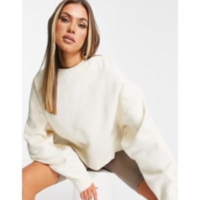 ナイキ レディース シャツ トップス Nike pullover fleece sweatshirt in off-white White