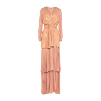 ELISABETTA FRANCHI ロングワンピース&ドレス サーモンピンク 42 ポリエステル 100% ロングワンピース&ドレス
