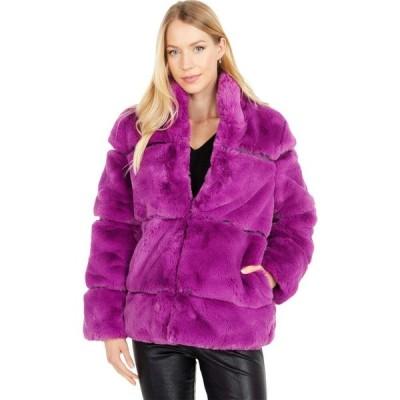 アパリス APPARIS レディース コート ファーコート アウター Sarah 2 Faux Fur Coat Purple Clover