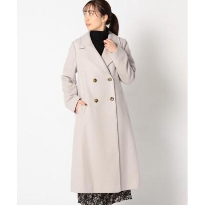 MEW'S REFINED CLOTHES / ロングダブルチェスターコート WOMEN ジャケット/アウター > ステンカラーコート