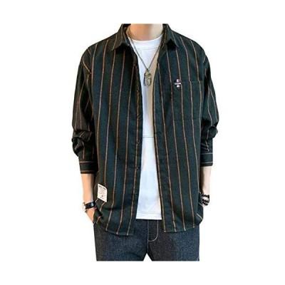(ショッフェ)メンズジャケット 男性用 トップス コート 長袖 春秋冬 ストライプ 縞模様 暖かい 防寒 ファシ?