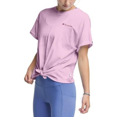 チャンピオン Champion レディース Tシャツ トップス Tie-Front T-Shirt Beloved Orchid