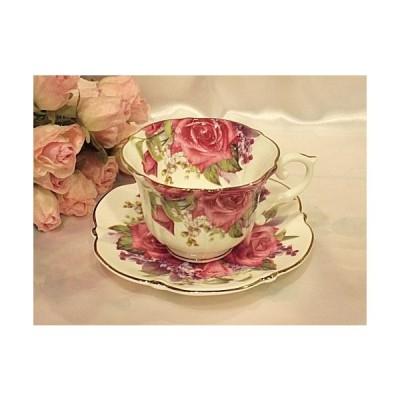バラのカップ&ソーサー:レッドローザ(cup001)