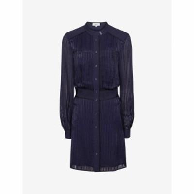 リース REISS レディース ワンピース ワンピース・ドレス Sophia Woven Midi Dress NAVY