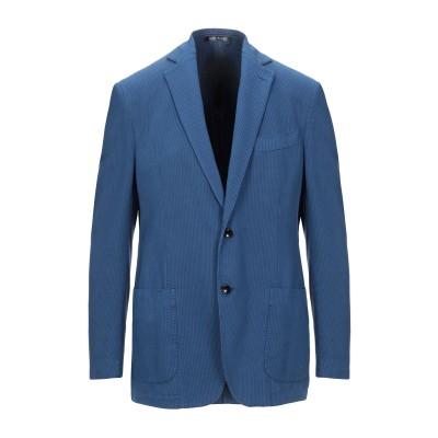 NATIONAL GEOGRAPHIC テーラードジャケット ブルー 50 コットン 52% / シルク 48% テーラードジャケット