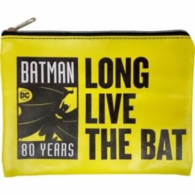 バットマン 平 ポーチ フラットポーチ BATMAN 80 YEARS DCコミック コレクション雑貨 キャラクター グッズ メール便可