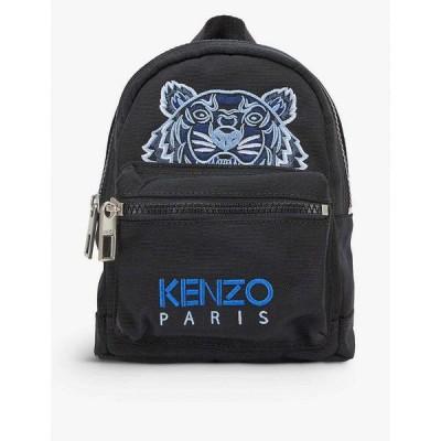 ケンゾー KENZO メンズ バックパック・リュック バッグ Tiger graphic-embroidered mini canvas backpack BLACK