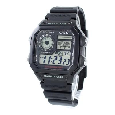 カシオ スタンダード メンズ レディース 逆輸入 チプカシ 多機能 デジタル 軽量 防水 レトロAE-1200WH-1A あすつく 腕時計