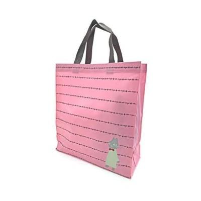 [ネコ人間]ショッピングバッグ 4R80 ピンク